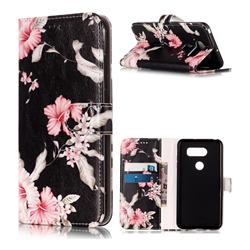 Azalea Flower PU Leather Wallet Case for LG V30