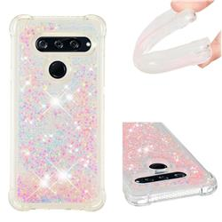 Dynamic Liquid Glitter Sand Quicksand TPU Case for LG V40 ThinQ - Silver Powder Star