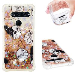 Bulldog Dynamic Liquid Glitter Sand Quicksand Star TPU Case for LG V40 ThinQ