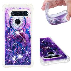 Retro Wind Chimes Dynamic Liquid Glitter Sand Quicksand Star TPU Case for LG V40 ThinQ