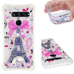 Mirror and Tower Dynamic Liquid Glitter Sand Quicksand Star TPU Case for LG V40 ThinQ