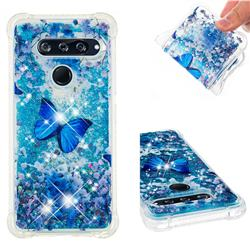 Flower Butterfly Dynamic Liquid Glitter Sand Quicksand Star TPU Case for LG V40 ThinQ