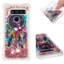 Seal Wind Chimes Dynamic Liquid Glitter Sand Quicksand Star TPU Case for LG V40 ThinQ