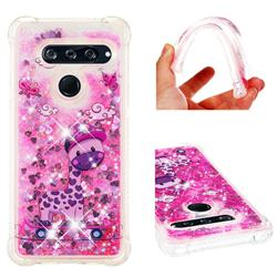 Skateboard Deer Dynamic Liquid Glitter Sand Quicksand Star TPU Case for LG V40 ThinQ