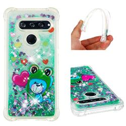 Heart Frog Lion Dynamic Liquid Glitter Sand Quicksand Star TPU Case for LG V40 ThinQ