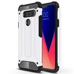 King Kong Armor Premium Shockproof Dual Layer Rugged Hard Cover for LG V40 ThinQ - White