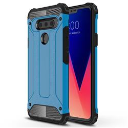 King Kong Armor Premium Shockproof Dual Layer Rugged Hard Cover for LG V40 ThinQ - Sky Blue