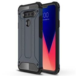 King Kong Armor Premium Shockproof Dual Layer Rugged Hard Cover for LG V40 ThinQ - Navy