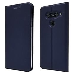 Ultra Slim Card Magnetic Automatic Suction Leather Wallet Case for LG V40 ThinQ - Royal Blue