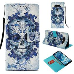 Cloud Kito 3D Painted Leather Wallet Case for LG V40 ThinQ
