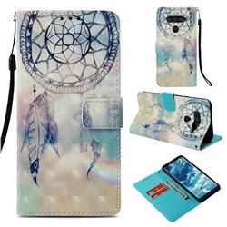 Fantasy Campanula 3D Painted Leather Wallet Case for LG V40 ThinQ
