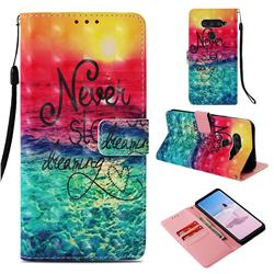 Colorful Dream Catcher 3D Painted Leather Wallet Case for LG V40 ThinQ