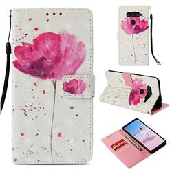 Watercolor 3D Painted Leather Wallet Case for LG V40 ThinQ