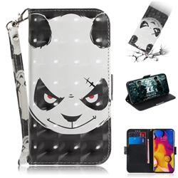 Angry Bear 3D Painted Leather Wallet Phone Case for LG V40 ThinQ