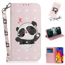 Heart Cat 3D Painted Leather Wallet Phone Case for LG V40 ThinQ
