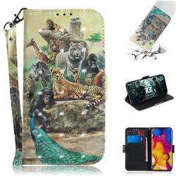 Beast Zoo 3D Painted Leather Wallet Phone Case for LG V40 ThinQ