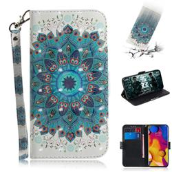 Peacock Mandala 3D Painted Leather Wallet Phone Case for LG V40 ThinQ