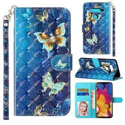 Rankine Butterfly 3D Leather Phone Holster Wallet Case for LG V40 ThinQ