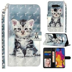 Kitten Cat 3D Leather Phone Holster Wallet Case for LG V40 ThinQ
