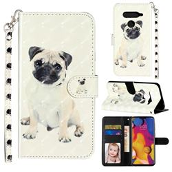 Pug Dog 3D Leather Phone Holster Wallet Case for LG V40 ThinQ