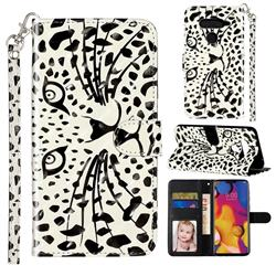 Leopard Panther 3D Leather Phone Holster Wallet Case for LG V40 ThinQ