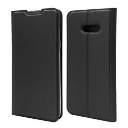 Ultra Slim Card Magnetic Automatic Suction Leather Wallet Case for LG V50s ThinQ 5G - Star Grey
