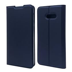 Ultra Slim Card Magnetic Automatic Suction Leather Wallet Case for LG V50s ThinQ 5G - Royal Blue