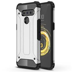 King Kong Armor Premium Shockproof Dual Layer Rugged Hard Cover for LG V50 ThinQ 5G - White