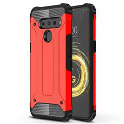 King Kong Armor Premium Shockproof Dual Layer Rugged Hard Cover for LG V50 ThinQ 5G - Big Red