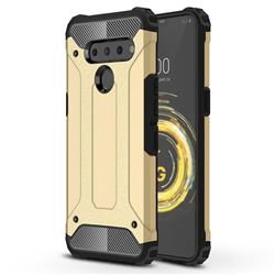 King Kong Armor Premium Shockproof Dual Layer Rugged Hard Cover for LG V50 ThinQ 5G - Champagne Gold