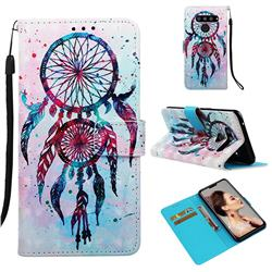 ColorDrops Wind Chimes 3D Painted Leather Wallet Case for LG V50 ThinQ 5G