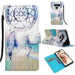 Fantasy Campanula 3D Painted Leather Wallet Case for LG V50 ThinQ 5G