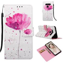 Watercolor 3D Painted Leather Wallet Case for LG V50 ThinQ 5G