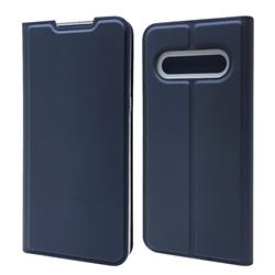 Ultra Slim Card Magnetic Automatic Suction Leather Wallet Case for LG V60 ThinQ 5G - Royal Blue