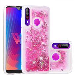 Dynamic Liquid Glitter Quicksand Sequins TPU Phone Case for LG W30 - Rose