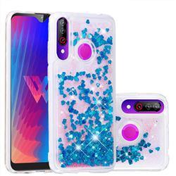 Dynamic Liquid Glitter Quicksand Sequins TPU Phone Case for LG W30 - Blue