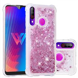 Dynamic Liquid Glitter Sand Quicksand Star TPU Case for LG W30 - Diamond Rose