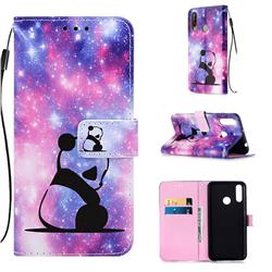 Panda Baby Matte Leather Wallet Phone Case for LG W30