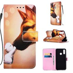 Hound Kiss Matte Leather Wallet Phone Case for LG W30