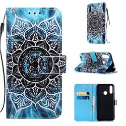 Underwater Mandala Matte Leather Wallet Phone Case for LG W30