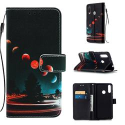 Wandering Earth Matte Leather Wallet Phone Case for LG W30