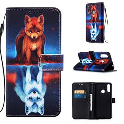 Water Fox Matte Leather Wallet Phone Case for LG W30