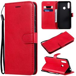 Retro Greek Classic Smooth PU Leather Wallet Phone Case for LG W30 - Red