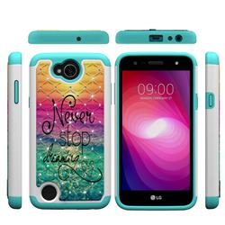 Colorful Dream Catcher Studded Rhinestone Bling Diamond Shock Absorbing Hybrid Defender Rugged Phone Case Cover for LG X Power2