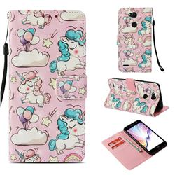 Angel Pony 3D Painted Leather Wallet Case for LG X Power 3