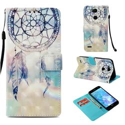 Fantasy Campanula 3D Painted Leather Wallet Case for LG X Power 3