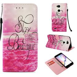 Beautiful 3D Painted Leather Wallet Case for LG X Power 3