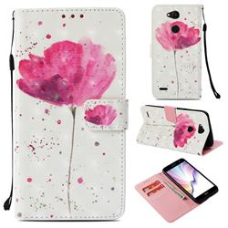 Watercolor 3D Painted Leather Wallet Case for LG X Power 3