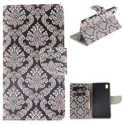 Totem Flowers PU Leather Wallet Case for Sony Xperia M4 Aqua E2303 E2333 E2353