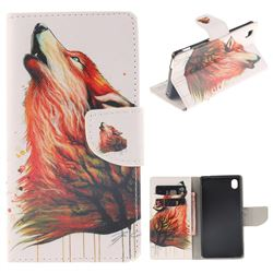 Color Wolf PU Leather Wallet Case for Sony Xperia M4 Aqua E2303 E2333 E2353